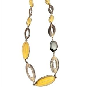 RLM STUDIO Sterling Brass Hematite Collar Necklace
